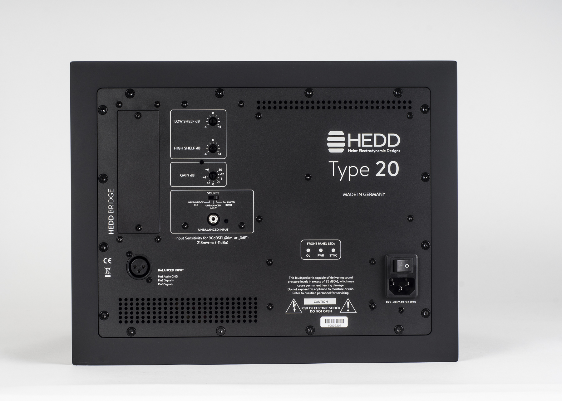 HEDD Type 20, Rückseite