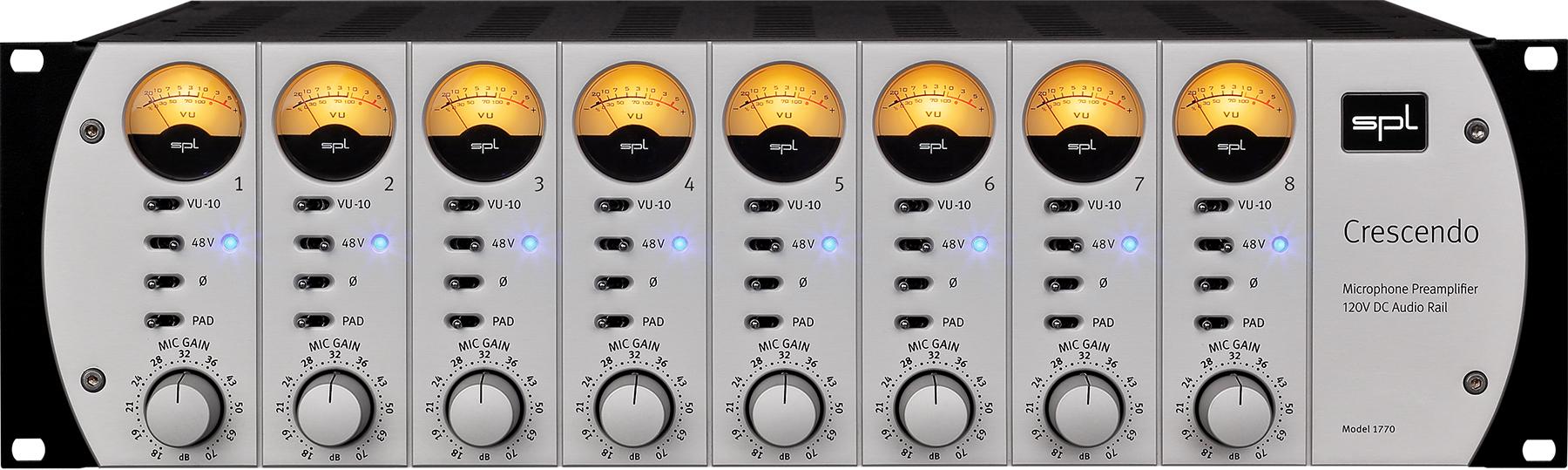 News: SPL bringt den 120V-Mikrofonvorverstärker Crescendo heraus
