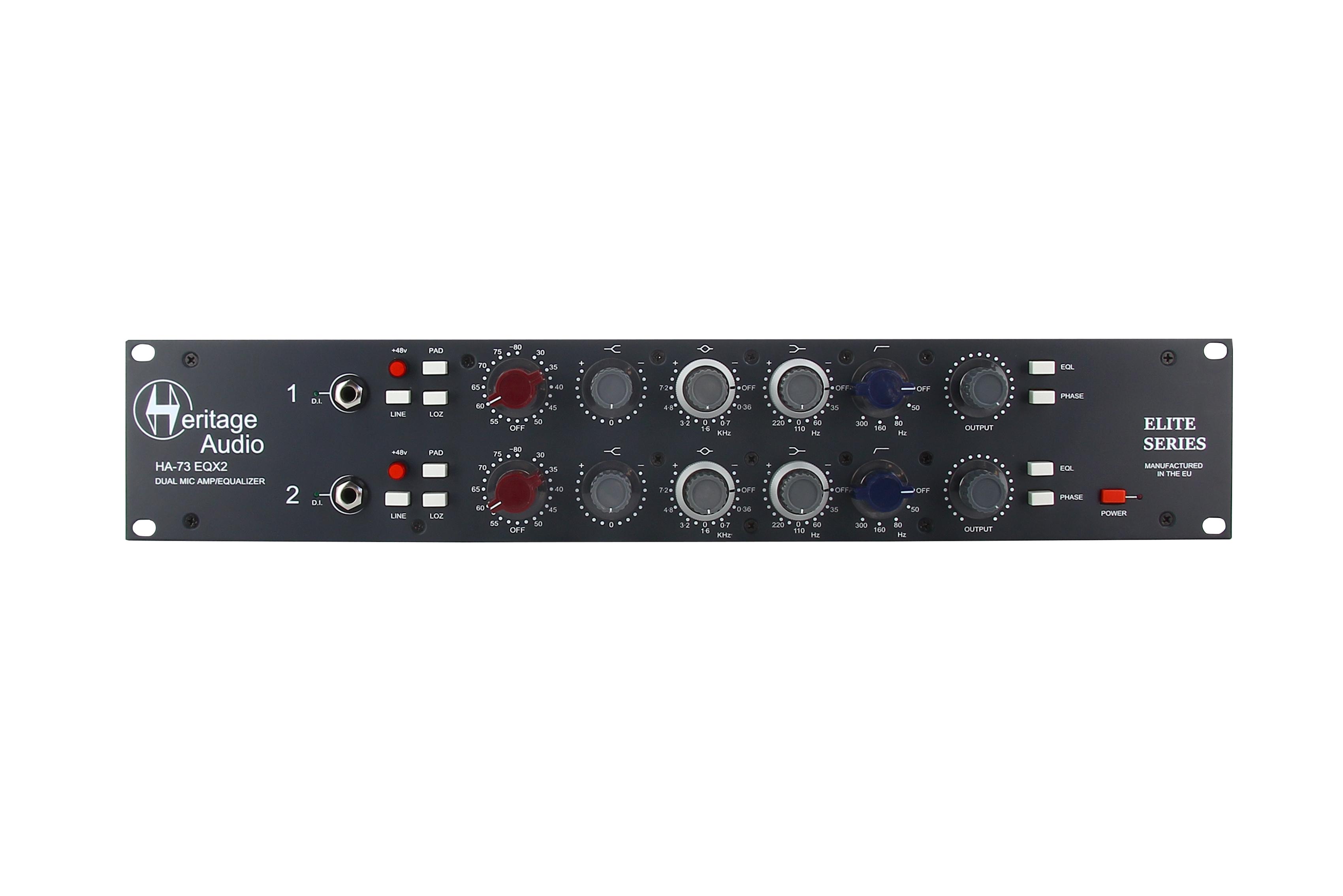News: Heritage Audio präsentiert Mikrofonvorverstärker und Equalizer HA73EQX2