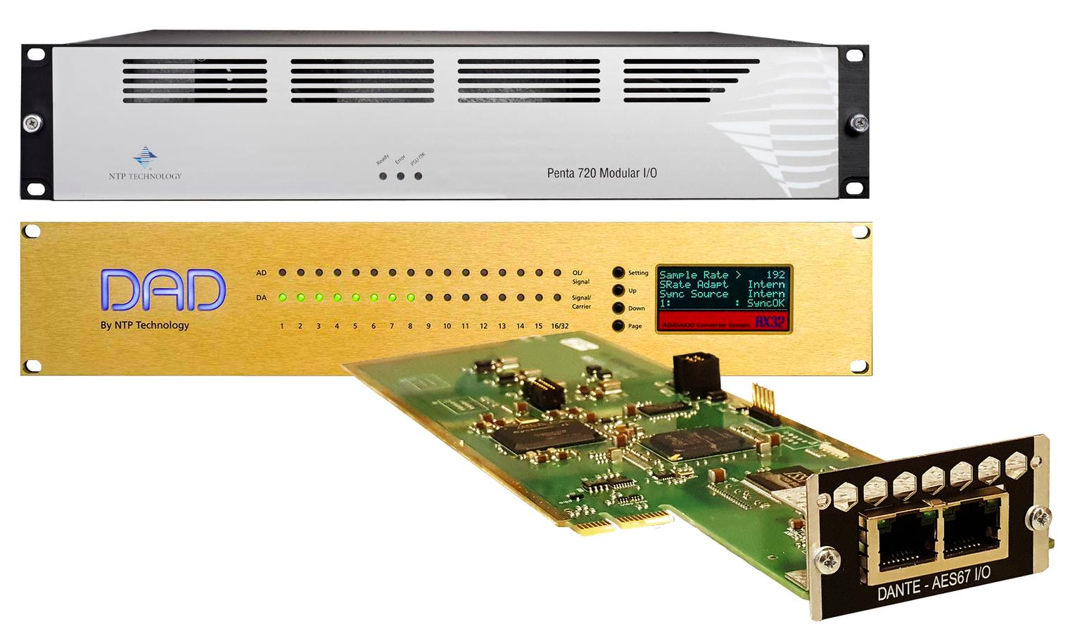 News: Dante Erweiterungskarte für NTP Technology Penta 720 und DAD AX32 verfügbar