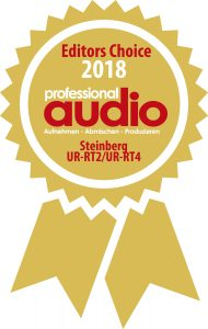 Professional audio Editors Choice 2018: Steinberg UR-RT2 und UR-RT4