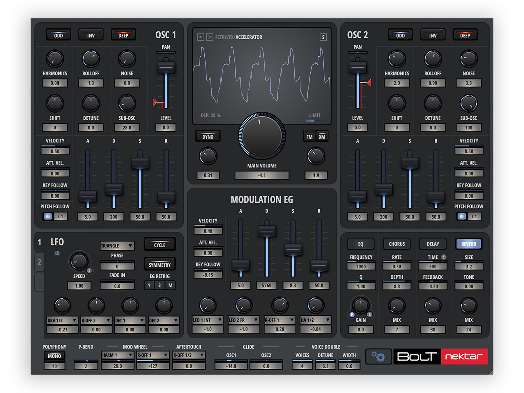News: Nektar Technology veröffentlicht seinen ersten virtuellen Synthesizer Bolt