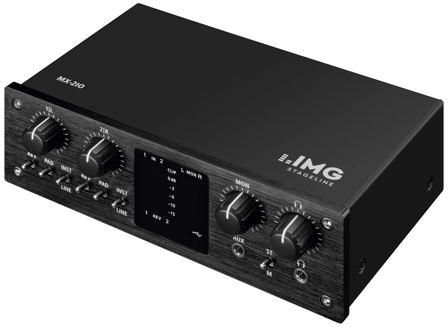 News: IMG Stageline mit Audiointerfaces MX-2IO und MX-1IO