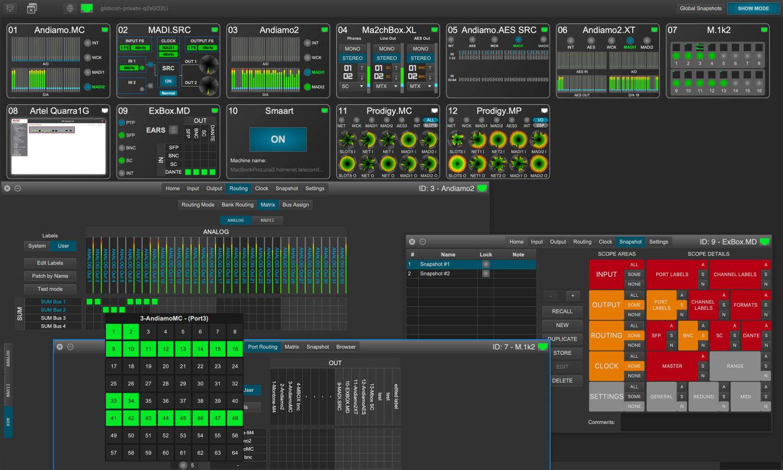 News: Geräte von DirectOut unterstützen Snapshot-Funktion der Software Globcon