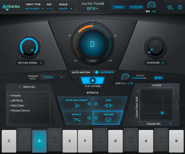 Antares Technologies veröffentlicht Plug-in Auto-Tune EFX+