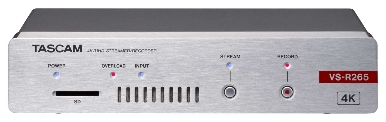 Tascam liefert Details zu AV-Streamern/-Recordern VS-R265 und VS-R264