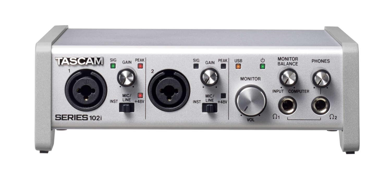 Audiointerfaces Series 102i und Series 208i von Tascam verfügbar