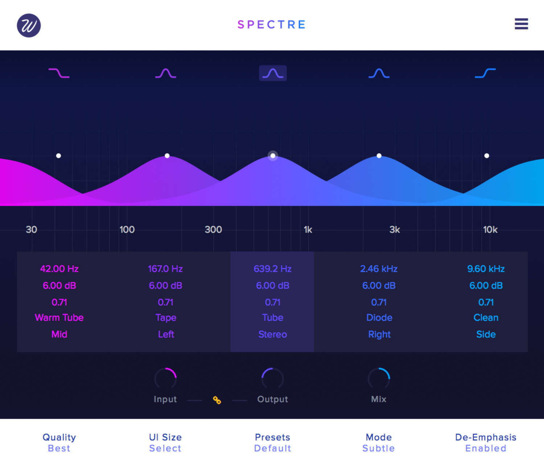Wavefactory bringt Version 1.5 des Sättigungs-Plug-ins Spectre heraus