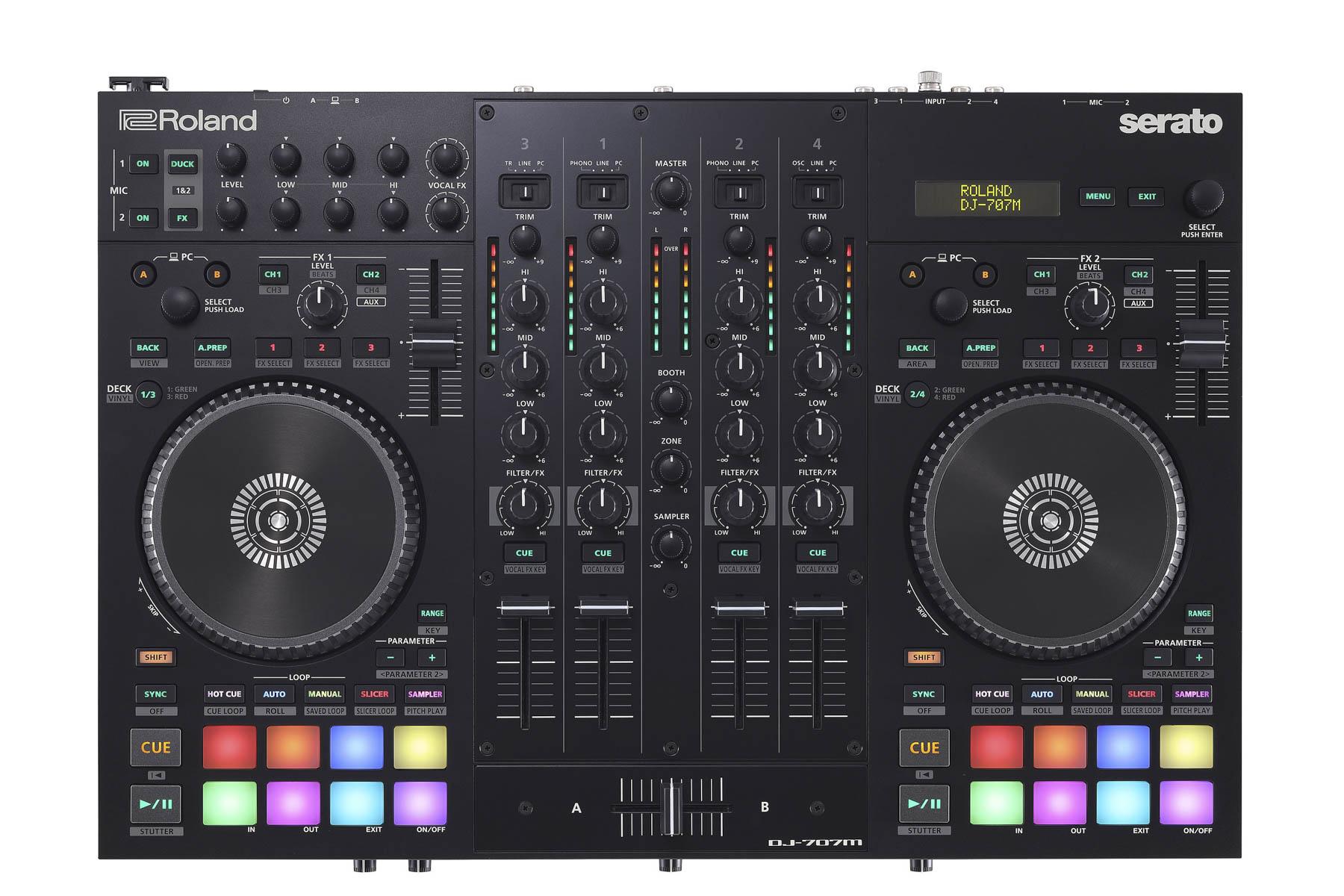 Roland präsentiert DJ-Controller DJ-707M