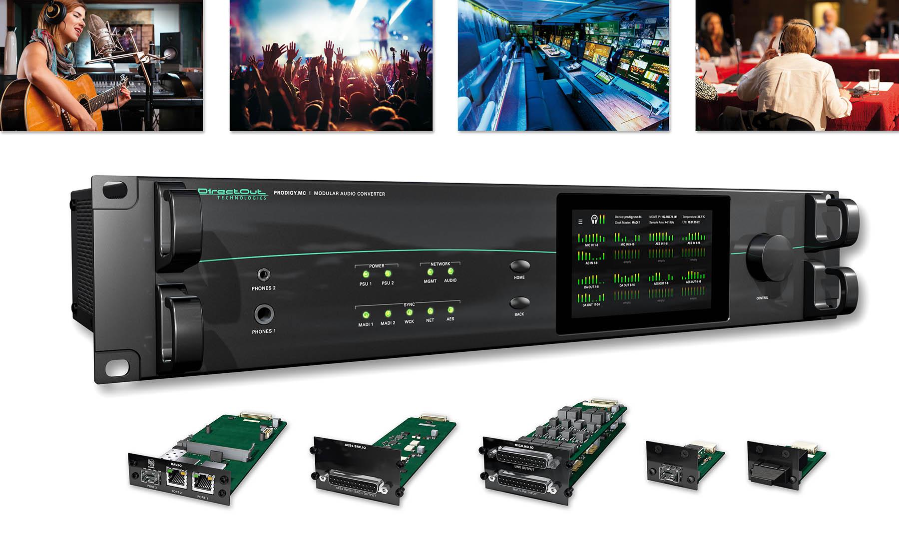 DirectOut ergänzt Audiokonverter PRODIGY.MC um neue Funktionen