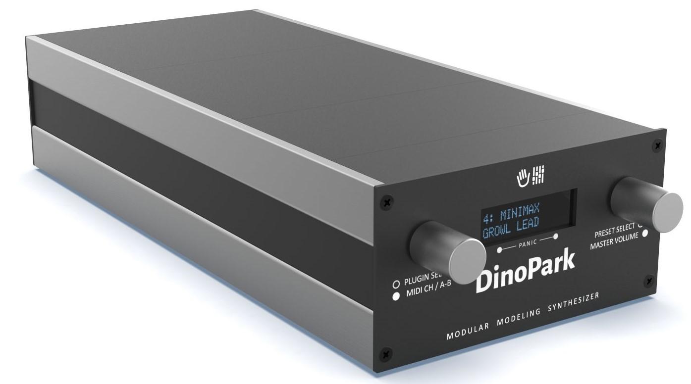 MakeProAudio liefert Baukasten-Synthesizer Dino Park aus