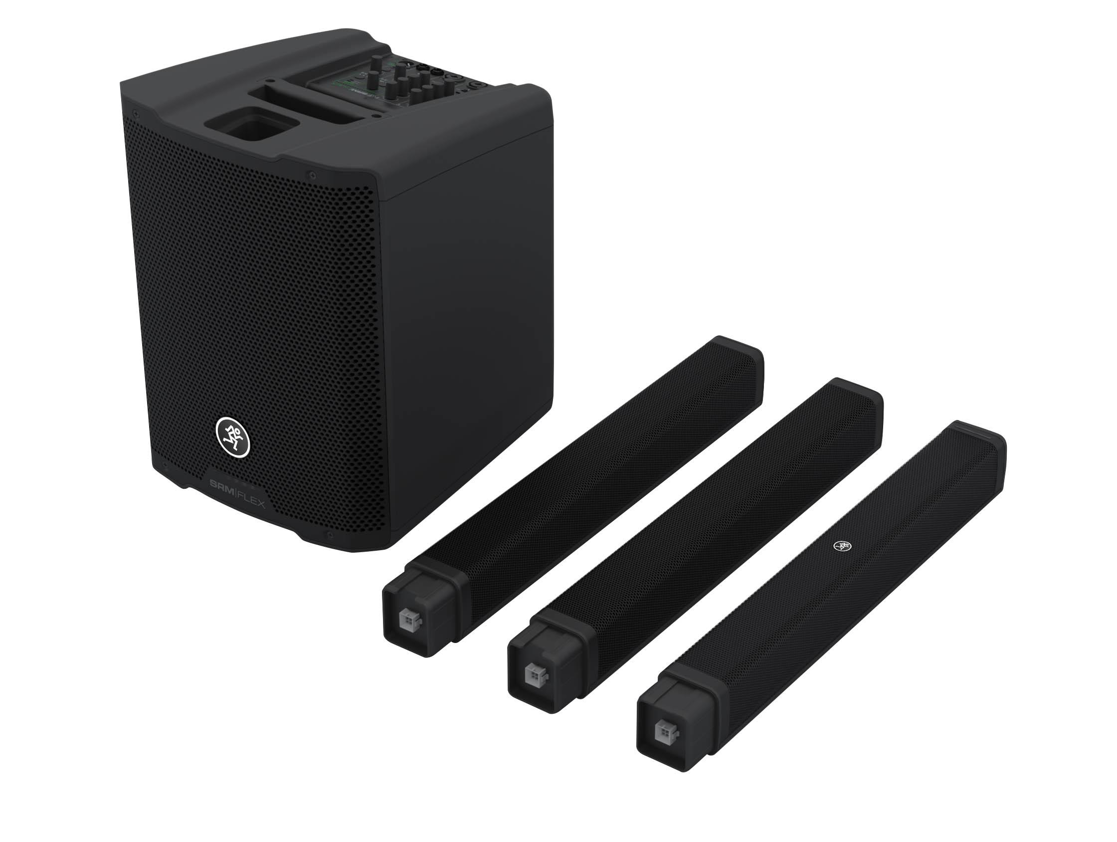 Mackie stellt SRM-Flex als Neuzugang im Bereich portabler PA-Systeme vor