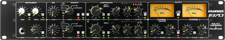 Drawmer präsentiert den 1970 FET-Kompressor / Mic-Preamp