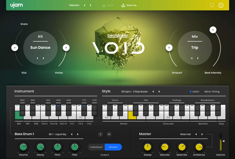 UJAM erweitert Beatmaker-Serie mit dem Beatmaker VOID Plugin