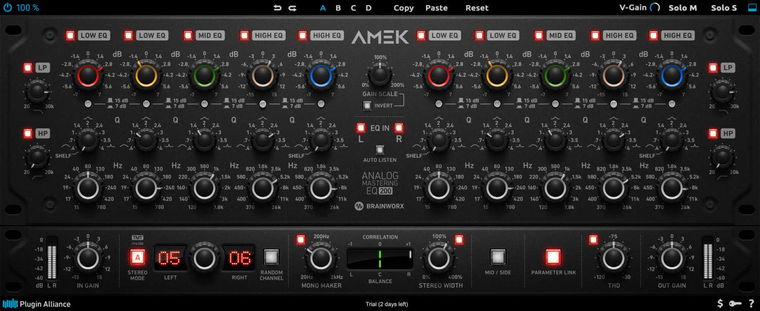 Plugin Alliance & Brainworx stellen AMEK EQ 200 – Plugin vor