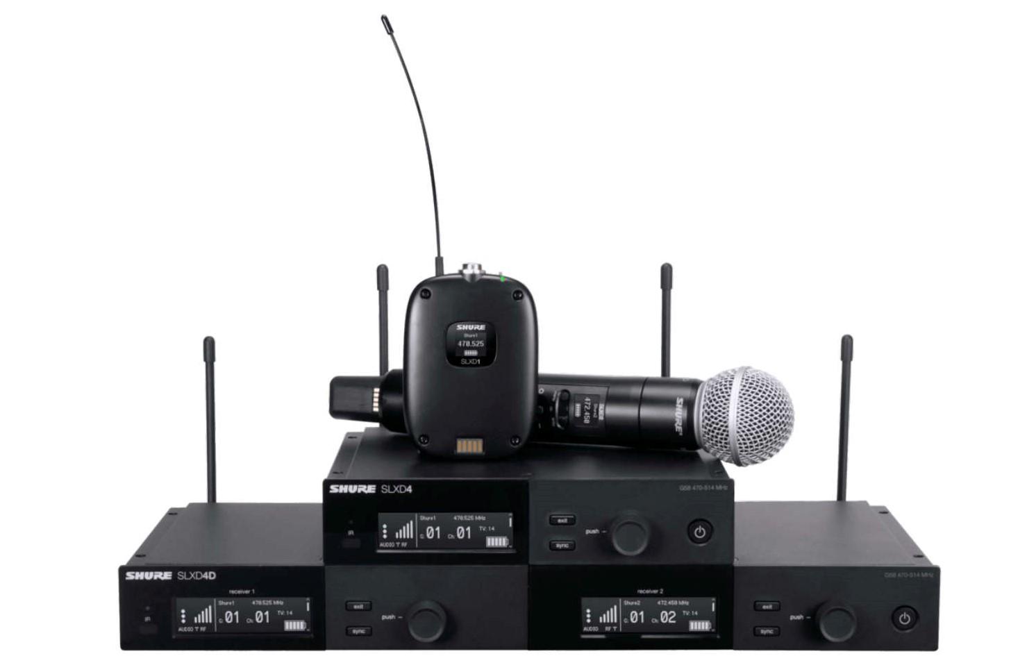 Shure präsentiert digitales Drahtlossystem SLX-D