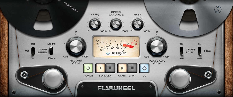 Fuse Audio Labs präsentiert Bandmaschinen – Plugin Flywheel