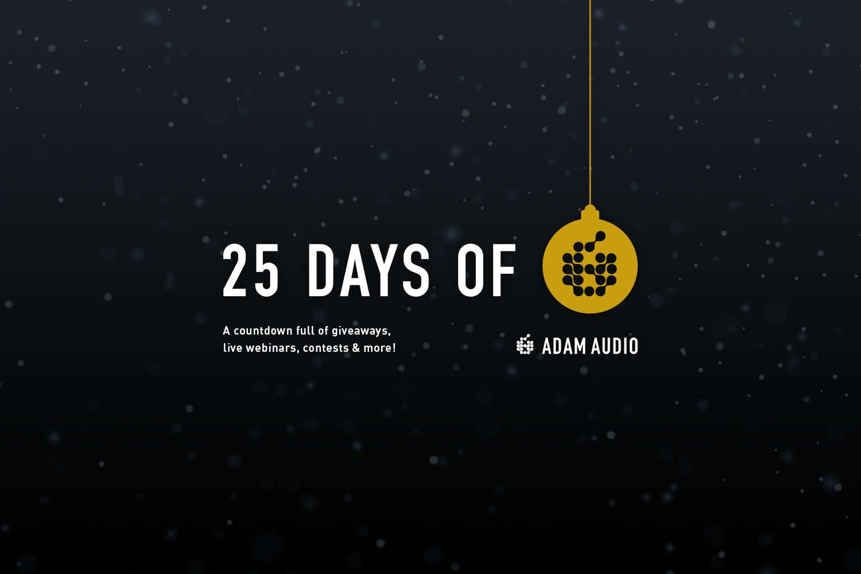 """ADAM Audio läutet die Weihnachtszeit ein – mit """"25 Days of ADAM"""""""