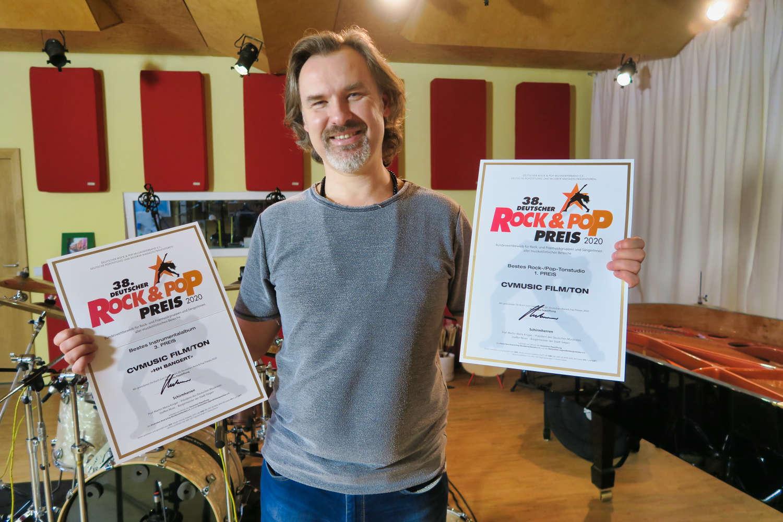 Das cvmusic film/ton Studio gewinnt Deutschen Rock & Pop Preis 2020