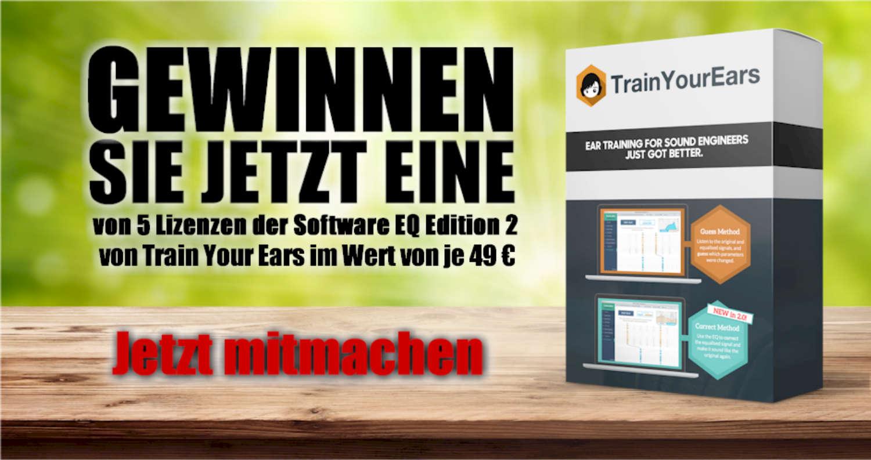 [BEENDET] Gewinnen Sie 1 von 5 Lizenzen der Software EQ Edition 2 von Train Your Ears im Wert von je 49 €