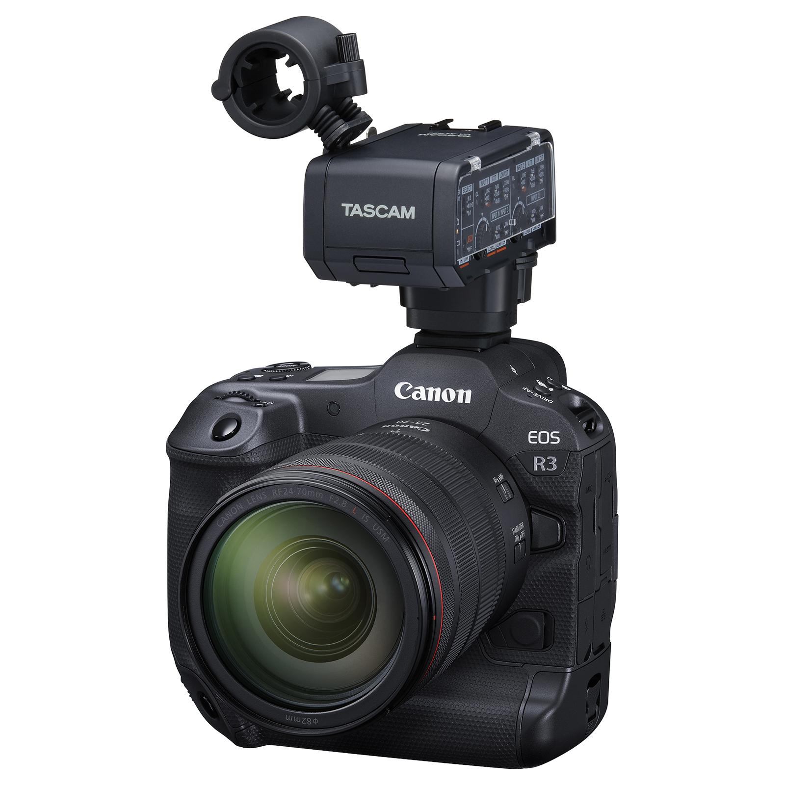 Tascam stellt professionellen XLR-Mikrofonadapter für spiegellose Kameras von Canon, Fujifilm und Nikon vor