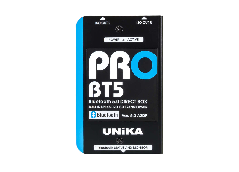 Professionelle DI-Boxen mit Bluetooth 5.0 und USB-C: UNiKA PRO-BT5 und PRO-USB